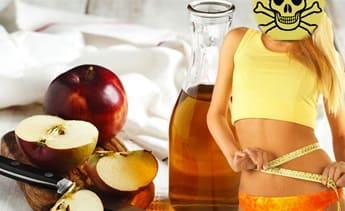 яблочный уксус вред для похудения